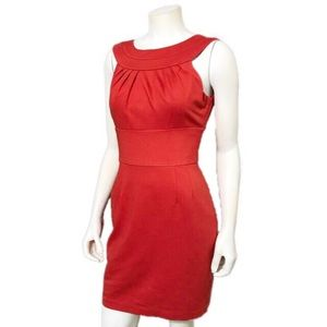 Trina Turk | Red Sheath Knit Cocktail Dress Sz-6